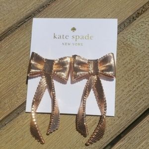 Kate Spade All Wrapped Up Rose Gold Bow Earrings